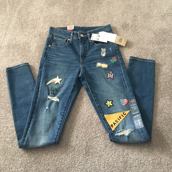 Levi's Denim - NWT Levi's 721 High Rise Skinny Jeans with Patches
